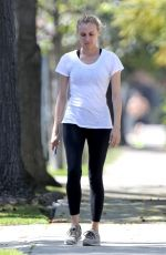 DIANE KRUGER Out for a Walk in Los Angeles