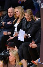 DIANNA AGRON at a Lakers Game in Los Angeles
