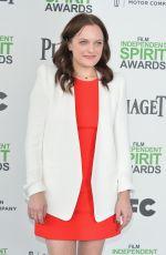 ELISABETH MOSS at 2014 Film Independent Spirit Awards in Santa Monica