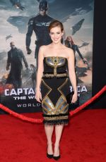 ELIZABETH HENSTRIDGE at Captain America: The Winter Soldier Premiere in Hollywood