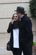 ELIZABETH OLSEN and Boyd Holbrook Out in Paris