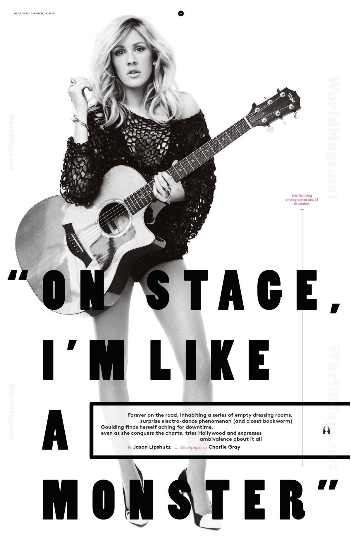 ELLIE GOULDING in Billboard Magazine, 29th March 2014 Issue
