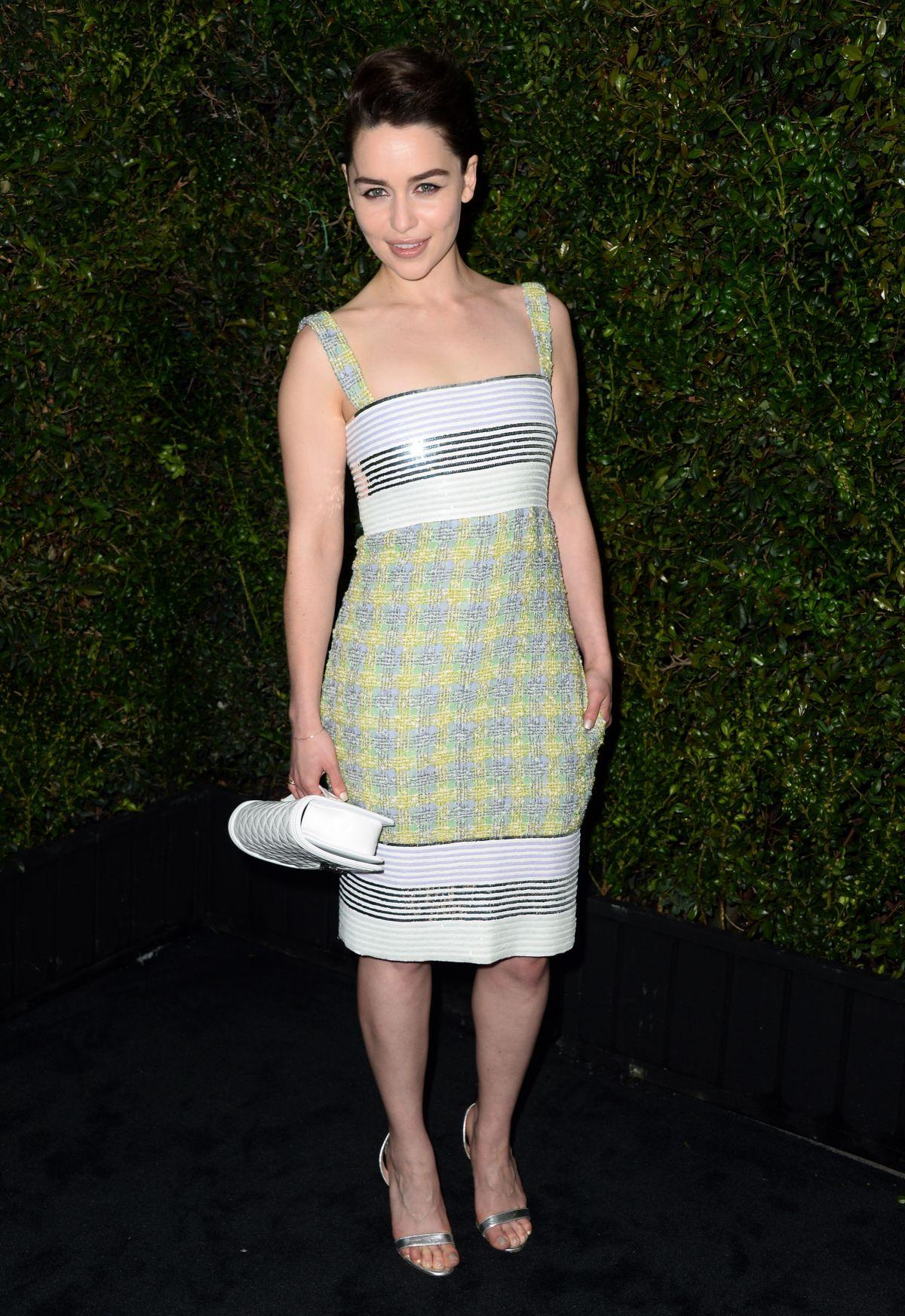 EMILIA CLARKE at Chanel Charles Finch Pre-Oscar Dinner in Los Angeles