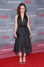 EMILIA CLARKE at Game of Thrones Fourth Season Premiere in New York