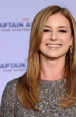 EMILY VANCAMP at Captain America: The Winter Soldier Premiere in Hollywood
