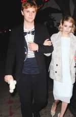 EMMA ROBERTS and Evan Peters Leaves Chateau Marmont in Los Angeles