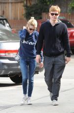 EMMA ROBERTS and Evan Peters Out and About in Los Angeles