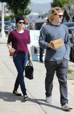 EMMA ROBERTS and Evan Peters Out for Lunch in Los Angeles
