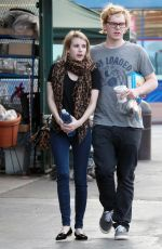 EMMA ROBERTS and Evan Peters Out in West Hollywood