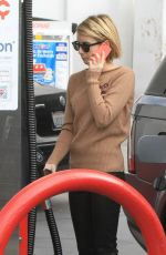 EMMA ROBERTS at a Gas Station in West Hollywood