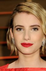 EMMA ROBERTS at Vanity Fair Oscar Party in Hollywood