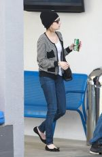 EMMA ROBERTS Heading to Car Wash in Los Angeles