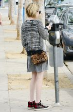 EMMA ROBERTS Lunch at Chop Stop in West Hollywood