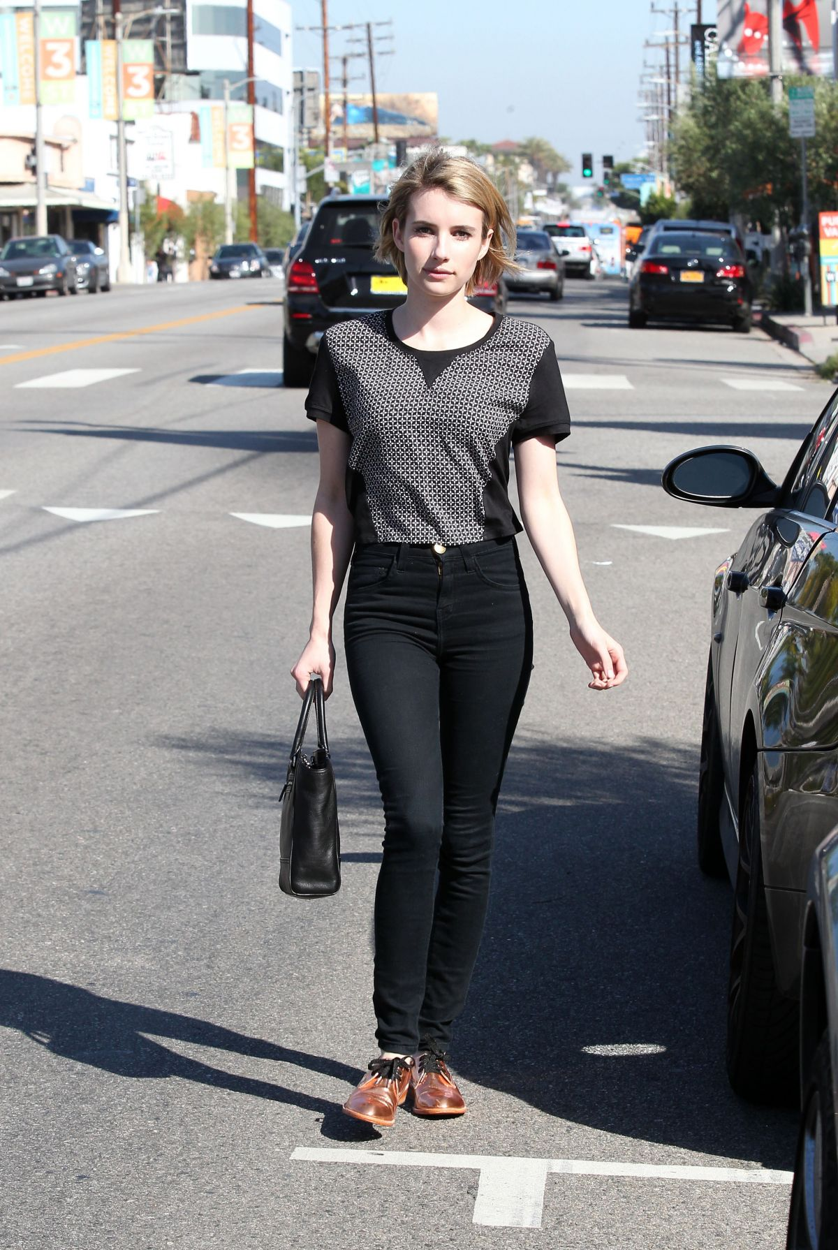 5cbe3eac6 EMMA ROBERTS Out and About in Los Angeles