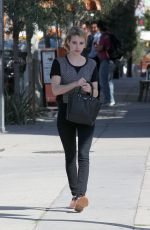 EMMA ROBERTS Out and About in Los Angeles 1903
