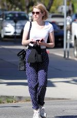 EMMA ROBERTS Out and About in West Hollywood 1703