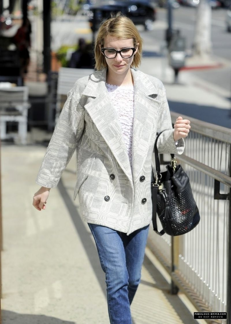 EMMA ROBERTS Out Shopping in Beverly Hills