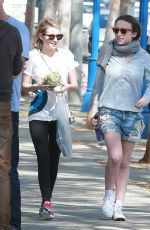 EMMA ROBERTS with a Friend Out in West Hollywood