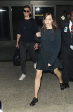 EMMA WATSON Arrives at LAX Airport in Los Angeles