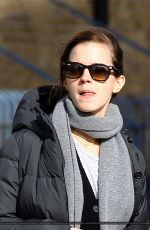 EMMA WATSON Out and About in East London