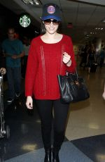 EMMY ROSSUM Arrives at LAX Airport in Los Angeles
