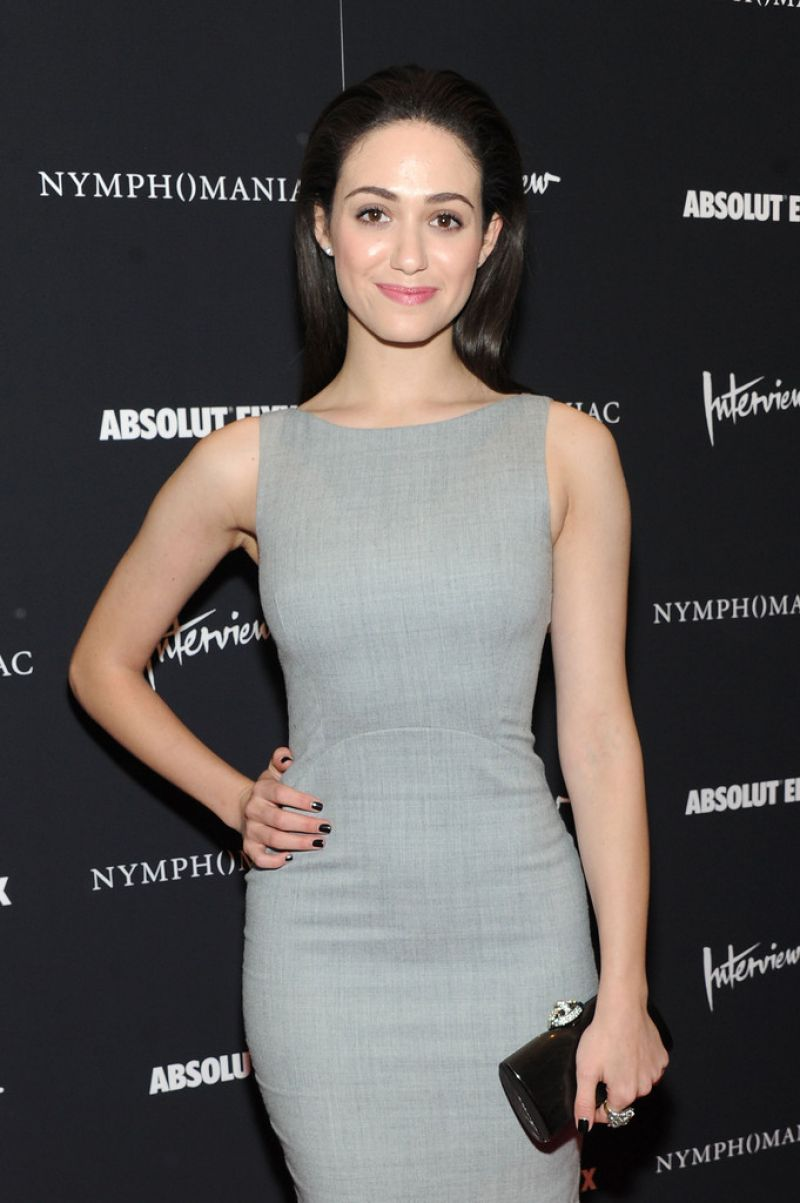 EMMY ROSSUM at Nymphomaniac: Volume I Screening in New York