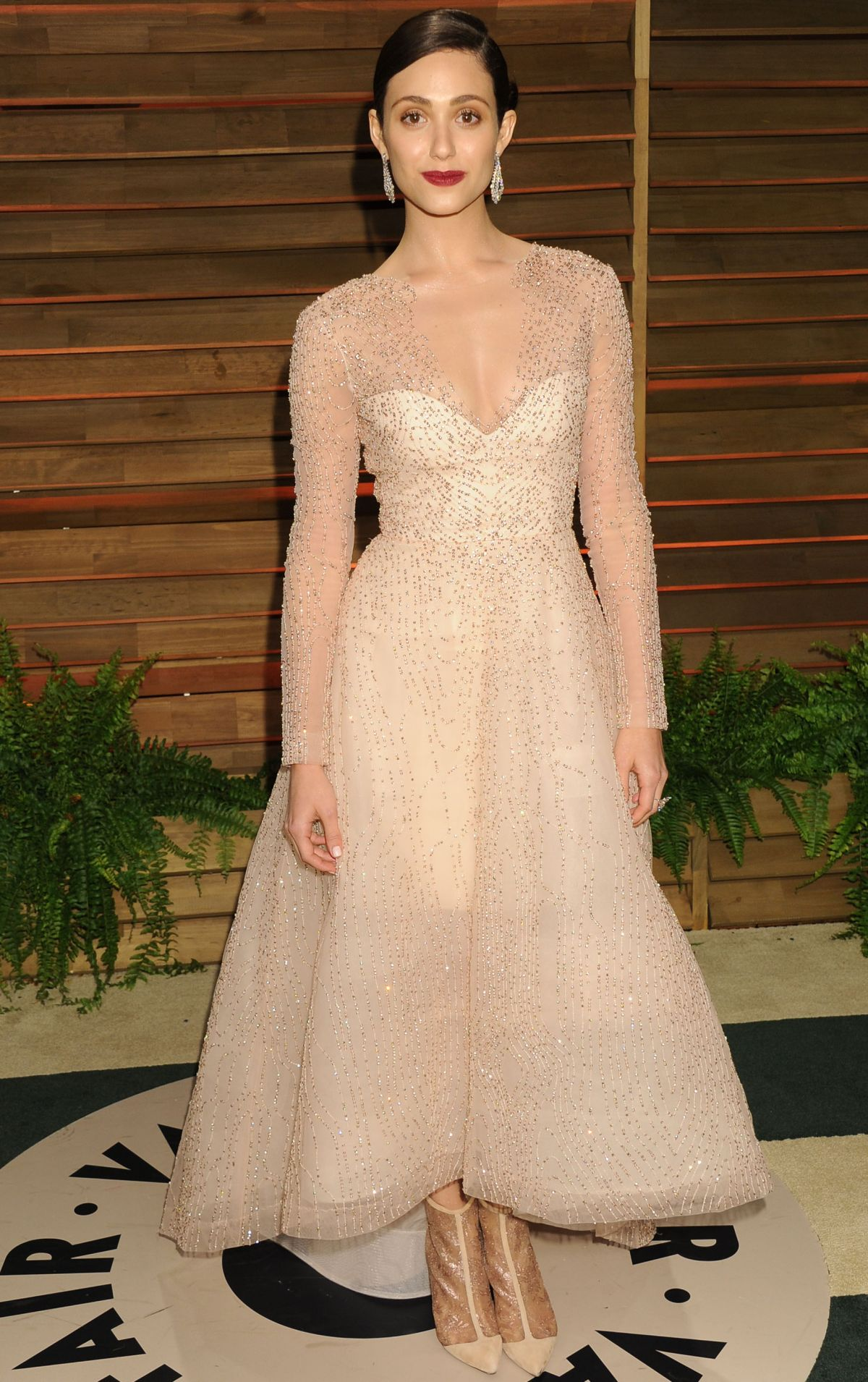 EMMY ROSSUM at Vanity Fair Oscar Party in Hollywood
