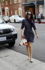 EMMY ROSSUM in Dress Out Shopping in Beverly Hills
