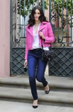 EMMY ROSSUM in Jeans Out and About in Los Angeles