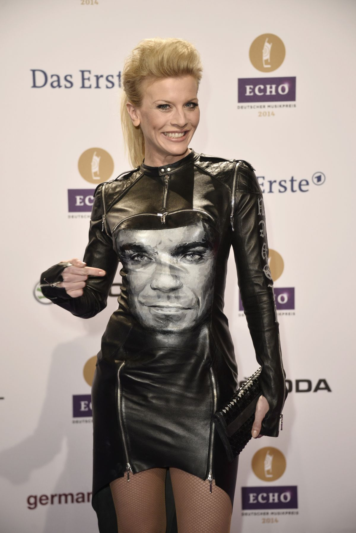 EVA HABERMANN at 2014 Echo Music Awards in Berlin