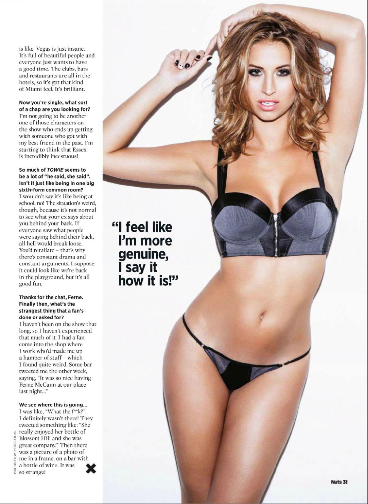 FERNE MCCANN in Nuts Magazine, March 7th 2014