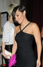 FRANKIE SANDFORD Leaves Chakana Nightclub in London