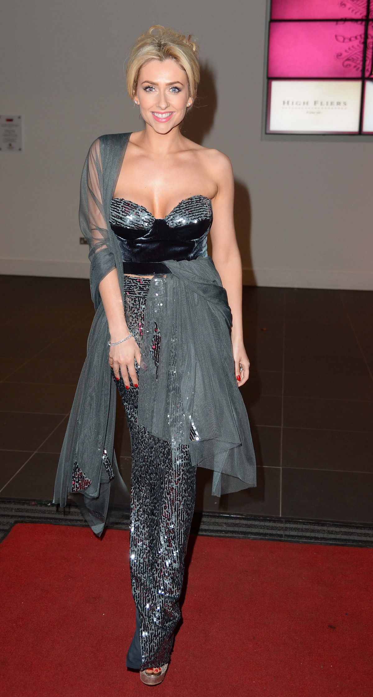 Gemma Merna At Breast Cancer Charity Event At Old Trafford