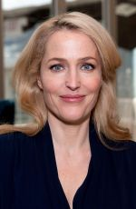 GILLIAN ANDERSON on the Set of Extra in New York