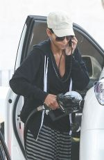 HALLE BERRY at a Gas Station in Los Angeles