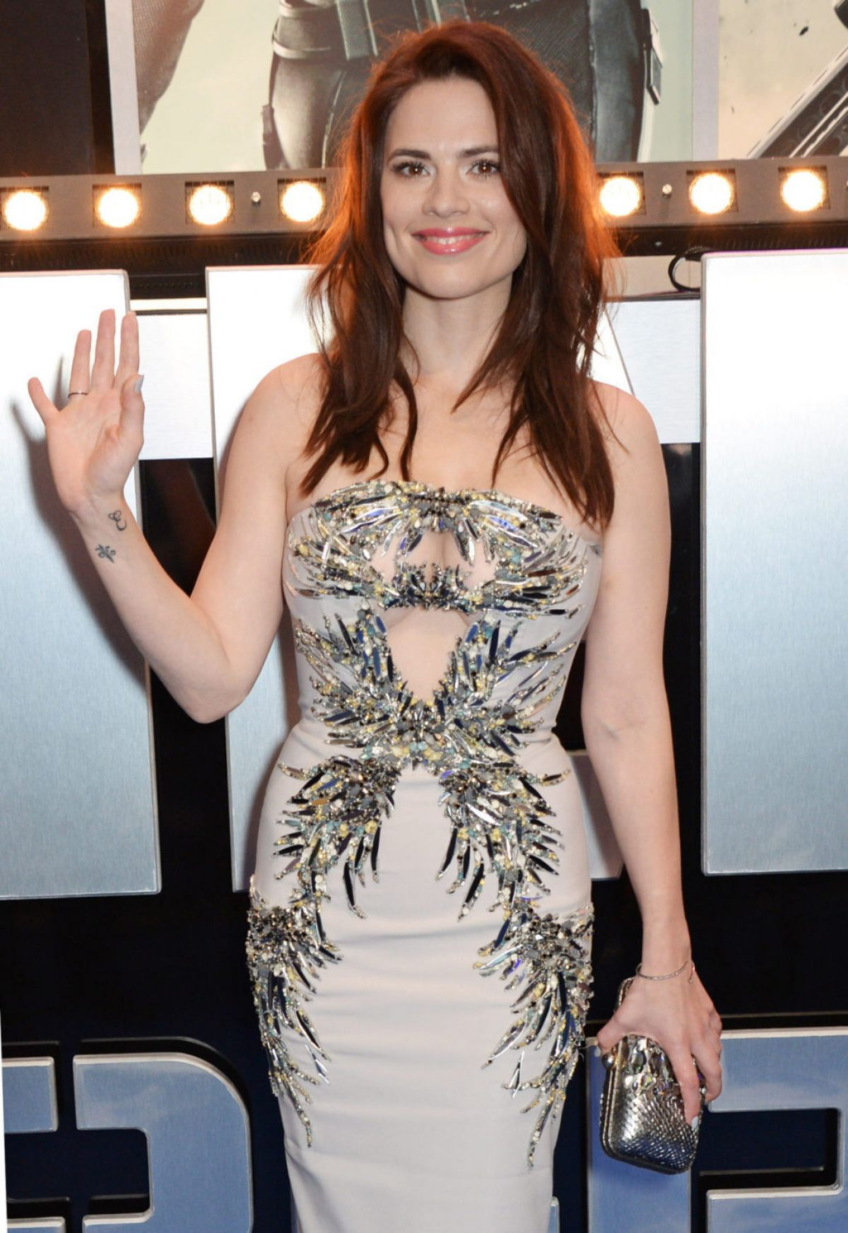 HAYLEY ATWELL at Captain America: The Winter Soldier Premiere in London