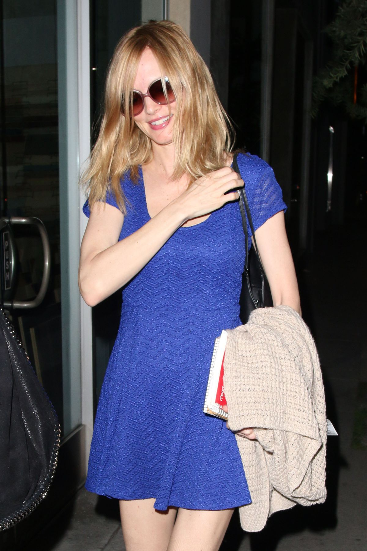 HEATHER GRAHAM Leaves Crossroads Restaurant in West Hollywood