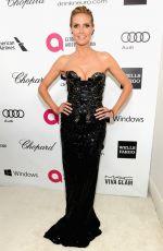 HEIDI KLUM at Elton John Aids Foundation Oscar Party in Los Angeles