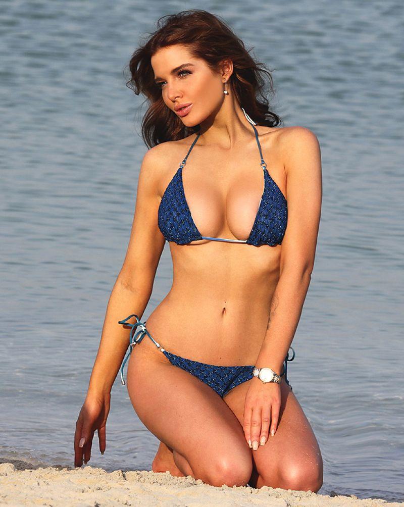 HELEN FLANAGAN in Bikini at a Beach in Dubai