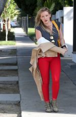 HILARY DUFF Arrives at LA Conversation Cafe in West Hollywood
