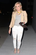HILARY DUFF at Crossroads Resturant in Los Angeles