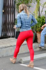 HILARY DUFF Buys Some Flowers Out in Hollywood