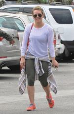 HILARY DUFF in Leggings Out in West Hollywood 2103