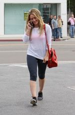 HILARY DUFF in Leggings Out in West Hollywood