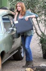 ISLA FISHER on the Set of Visions in Los Angeles