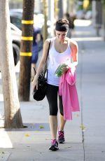 JAIMIE ALEXANDER in Leggings Leaves a Gym in Los Angeles