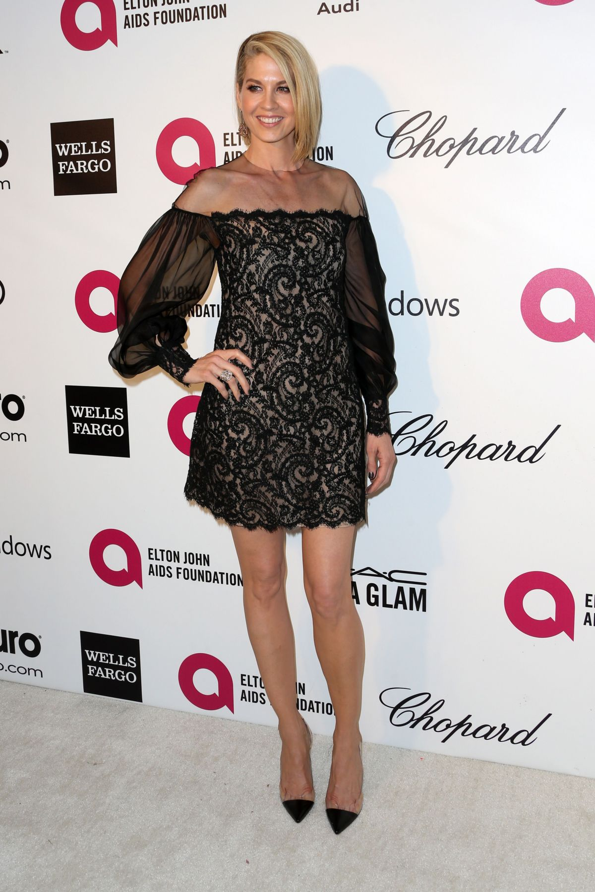 JENNA ELFMAN at Elton John Aids Foundation Oscar Party in Los Angeles