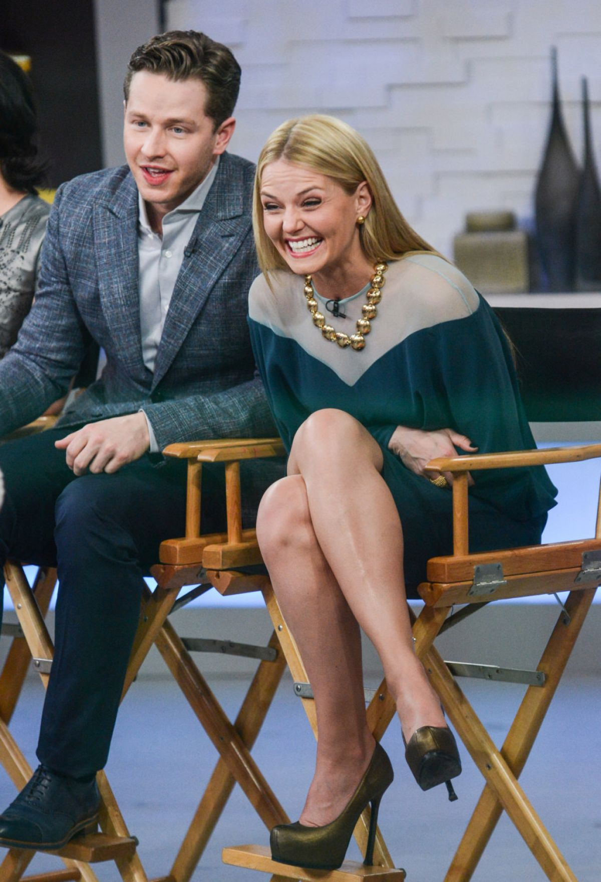 JENNIFER MORRISON on the Set of Good Morning America in New York