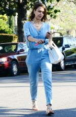 JESSICA ALBA Heading to a Party in Los Angeles