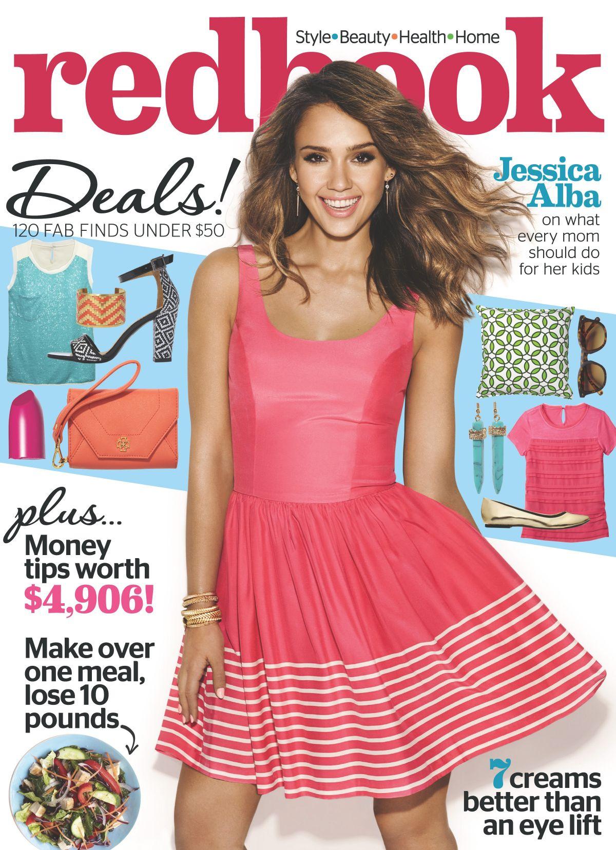 JESSICA ALBA in Redbook Magazine, April 2014 Issue